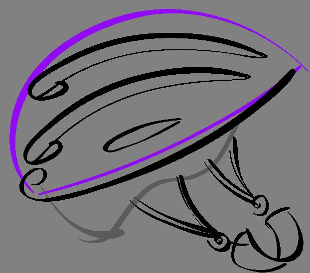 Bike Helmet Graphic Art